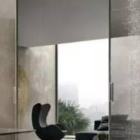10mm钢化玻璃 细框铝合金厨房门客厅吊趟门