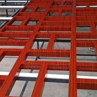 醫院窗口防盜鋁合金花格、外墻紅色窗花