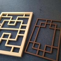 仿古木纹铝花格价格-铝花格定制厂家