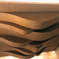 木纹铝板吊顶,仿树皮铝板天花