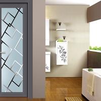 铝合金平开门钢化无轨隔音玻璃厕所门卫浴门