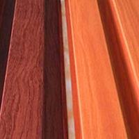 门头长身板-铝方通长城板-木色凹槽铝板