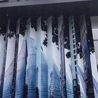 领克汽车店展厅门头装饰黑色铝单板