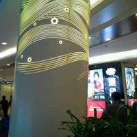 圆柱包柱冲孔铝单板造型铝单板