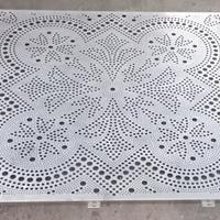 艺术冲孔穿孔铝板幕墙-冲孔铝单板
