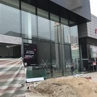 幕墙铝单板_领克销售中心装饰黑色单板
