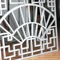 复式烤漆铝窗花 来图定制扇形铝窗花