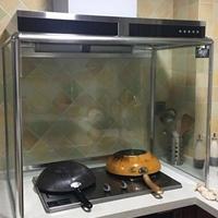 厨房油烟机玻璃罩支架挡油板铝材