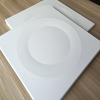 沖圓孔方格子孔鋁方板 白色鋁扣板