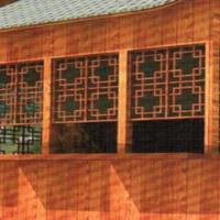 景区公园铝窗花 木纹铝窗花