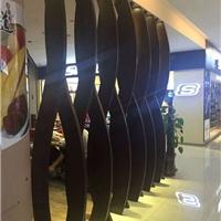 木纹弧形铝方通吊顶厂家_室内铝天花