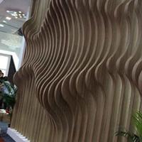 酒店氟碳波浪形铝方通装饰_木纹铝方通价格
