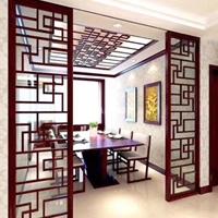 仿木纹铝合金窗花屏风隔断装饰生产厂家