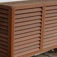 常德棕色铝制空调外机保护罩定制工艺