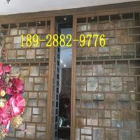 酒店大厅售后背景墙装饰仿木纹铝窗花