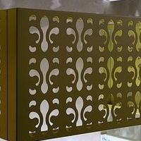 常德棕色铝制空调外机保护罩价格