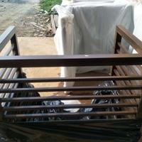 永州棕色铝合金空调罩装饰