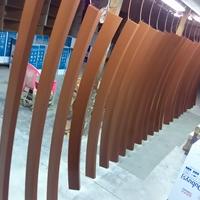 厂家订做拉弯铝方管 木纹铝方管