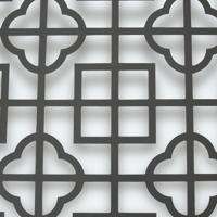 铝合金窗花型材创意木纹铝窗花厂家