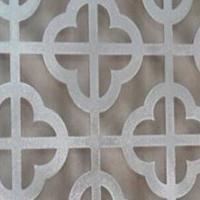 街道沿线刷新仿木纹铝花格铝合金花格厂家