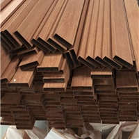 時尚仿木紋鋁方通天花-弧形鋁方通吊頂