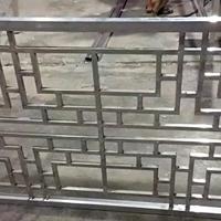 铝合金花格铝屏风定制木纹铝窗花厂家