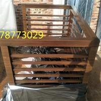 铝合金木纹空调外机防护罩环保装饰