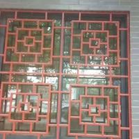 浙江专业生产木纹铝花格 铝挂落厂家