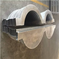 石家庄氟碳波浪形铝方通装饰天花价格