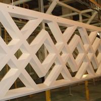 铝合金花格焊接加工-木纹热转印铝花格