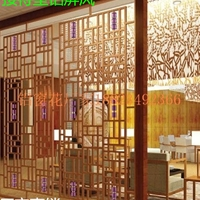 酒店装饰墙铝板雕刻屏风
