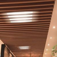 酒店外墻吊頂木紋鋁方通生產廠家