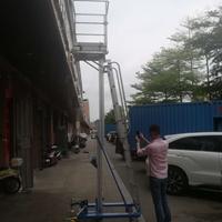 新款单桅柱手摇式高空作业台