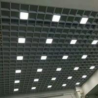 艺术铝格栅天花-造型铝方通吊顶装饰