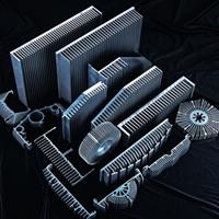 超大斷面散熱器,LED燈外殼鋁型材