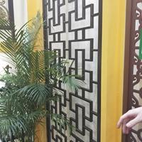 酒店铝格子铝合金雕花定制厂家