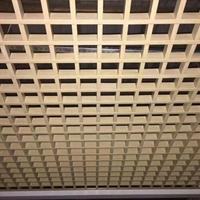 条形铝格栅天花-室内造型铝方通装饰