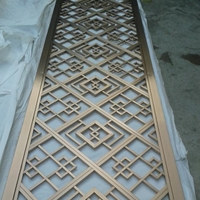 木纹铝花格 铝合金艺术窗花 高端仿古装潢材