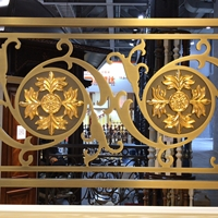 浮雕电镀复古铝雕屏风防护拦厂家定制