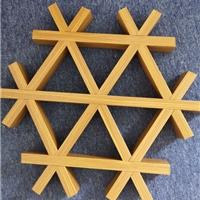 室外木纹铝格栅-造型氟碳铝方通