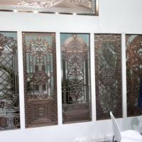 鏤空鋁窗花燒焊鋁花格定制廠家
