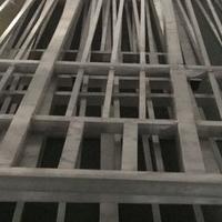 仿古式型材方管铝屏风 阻遏木纹铝花格
