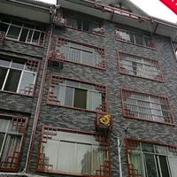 仿古楼房仿木纹铝花格窗 防盗铝窗花