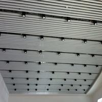体育馆50120U型白色铝方通吊顶
