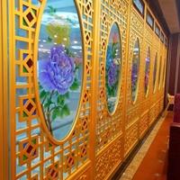 铝合金窗花 型材木纹铝花格 铝花格价格