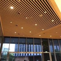 泸州木纹铝方管吊顶隔断-木纹四方通