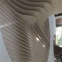 大小弧铝方通 木纹型材铝方通 白色铝方通