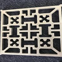 金昌复古铝窗花-铝管焊接 德普龙定制厂家