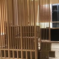 木纹铝屏风_楼盘销售中心装饰隔断屏风