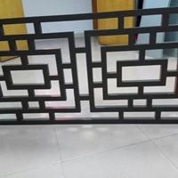 宝山区学校隔断铝屏风-方管烧焊铝窗花定做
